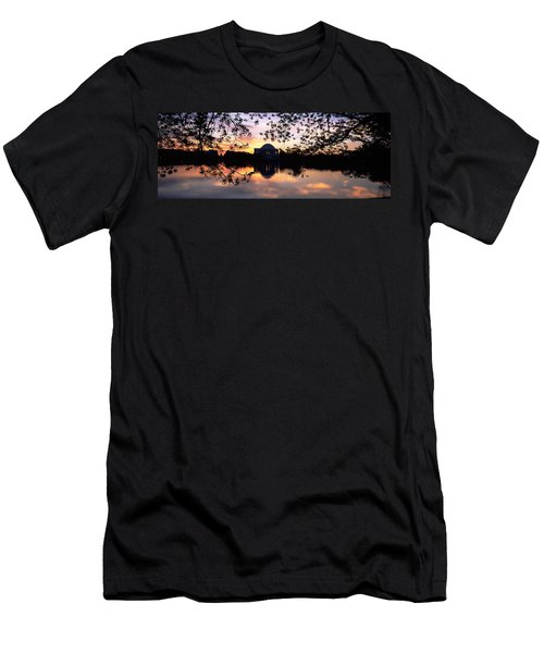 Memorial At The Waterfront, Jefferson Men's T-Shirt (Slim Fit) by Panoramic Images