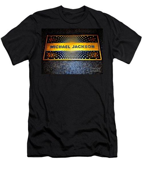 Michael Jackson Apollo Walk Of Fame Men's T-Shirt (Slim Fit) by Ed Weidman