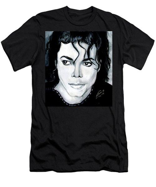 Michael Jackson Portrait Men's T-Shirt (Slim Fit) by Alban Dizdari