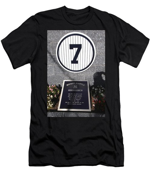 Mickey Mantle Men's T-Shirt (Slim Fit) by Allen Beatty