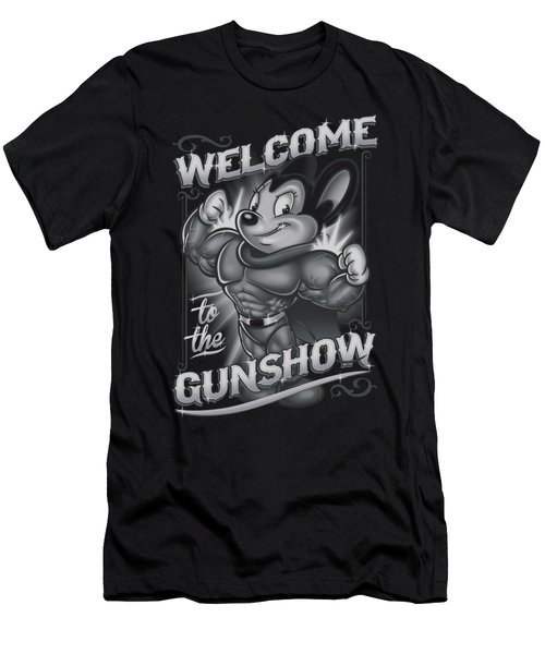 Mighty Mouse - Mighty Gunshow Men's T-Shirt (Slim Fit) by Brand A