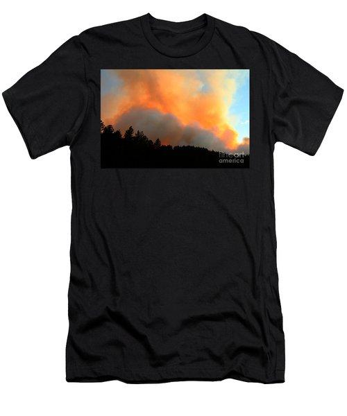 Men's T-Shirt (Slim Fit) featuring the photograph Myrtle Fire Near Rifle Pit Road by Bill Gabbert