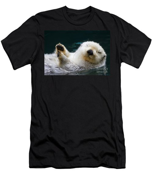 Napping On The Water Men's T-Shirt (Slim Fit) by Mike  Dawson