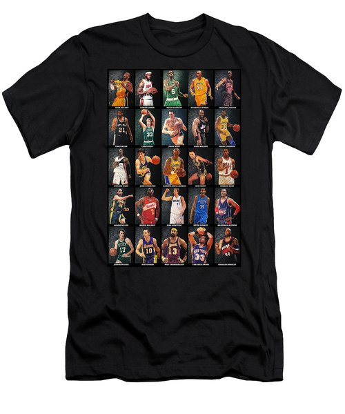 Nba Legends Men's T-Shirt (Slim Fit) by Taylan Apukovska