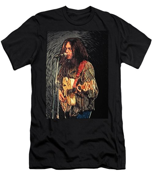 Neil Young Men's T-Shirt (Slim Fit) by Taylan Soyturk