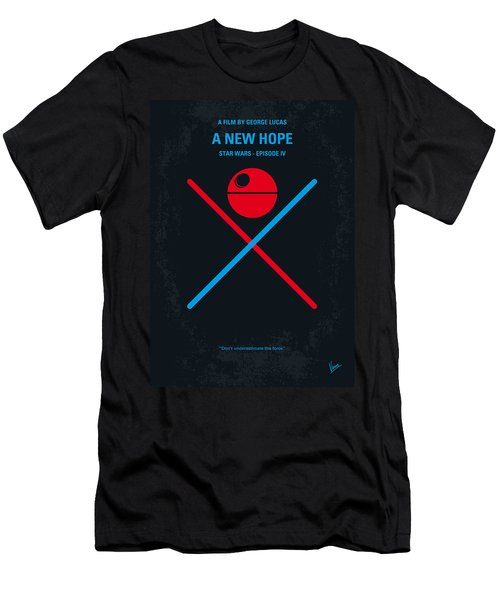 No154 My Star Wars Episode Iv A New Hope Minimal Movie Poster Men's T-Shirt (Slim Fit) by Chungkong Art