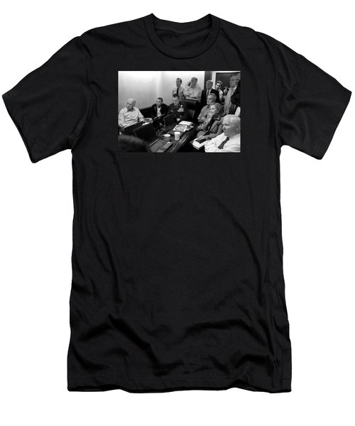 Obama In White House Situation Room Men's T-Shirt (Slim Fit) by War Is Hell Store