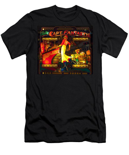 Pinball Machine Capt. Fantastic Men's T-Shirt (Slim Fit) by Terry DeLuco