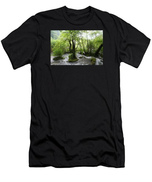 Men's T-Shirt (Slim Fit) featuring the photograph Plitvice Lakes by Travel Pics