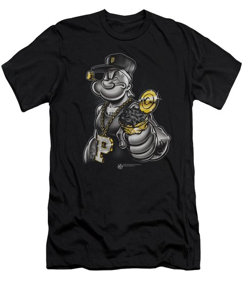 Popeye - Get More Spinach Men's T-Shirt (Slim Fit) by Brand A