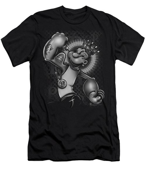 Popeye - Spinach King Men's T-Shirt (Slim Fit) by Brand A