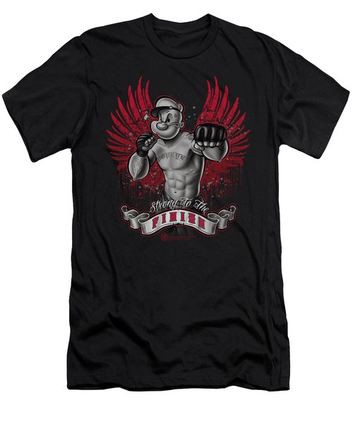 Popeye - Undefeated Men's T-Shirt (Slim Fit) by Brand A