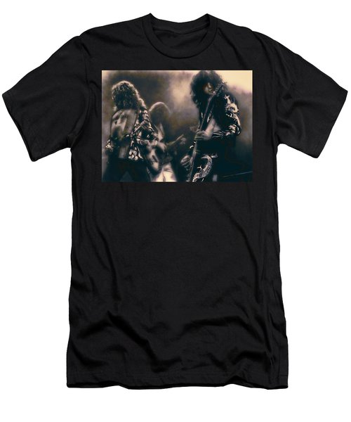 Raw Energy Of Led Zeppelin Men's T-Shirt (Slim Fit) by Daniel Hagerman