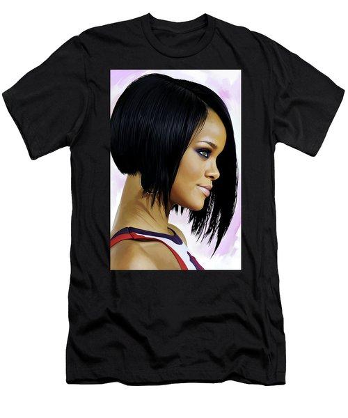 Rihanna Artwork Men's T-Shirt (Slim Fit) by Sheraz A