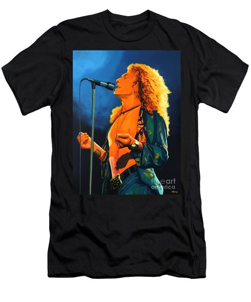 Robert Plant Men's T-Shirt (Slim Fit) by Paul Meijering