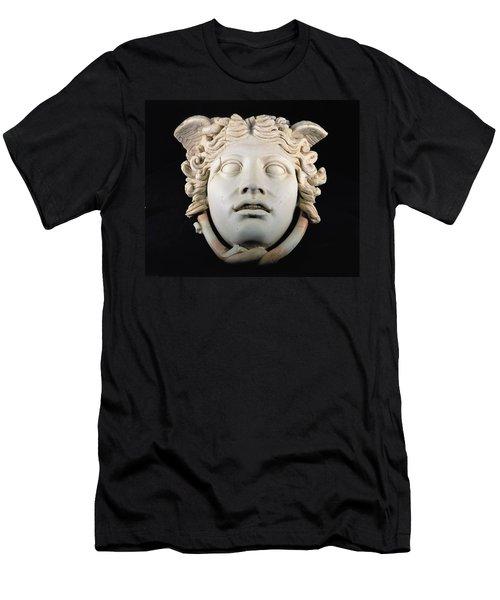 Rondanini Medusa, Copy Of A 5th Century Bc Greek Marble Original, Roman Plaster Men's T-Shirt (Slim Fit) by .