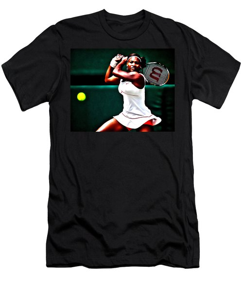 Serena Williams 3a Men's T-Shirt (Slim Fit) by Brian Reaves