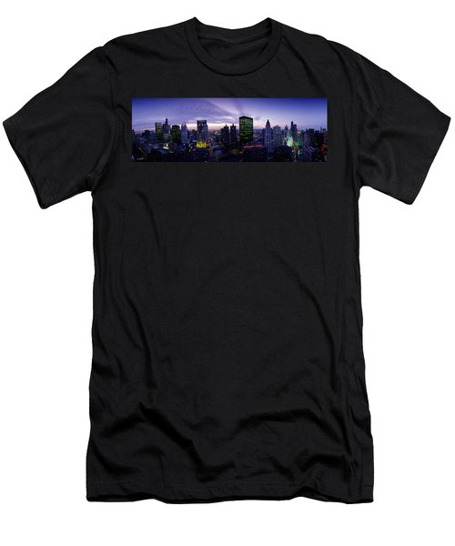 Skyscrapers, Chicago, Illinois, Usa Men's T-Shirt (Slim Fit) by Panoramic Images