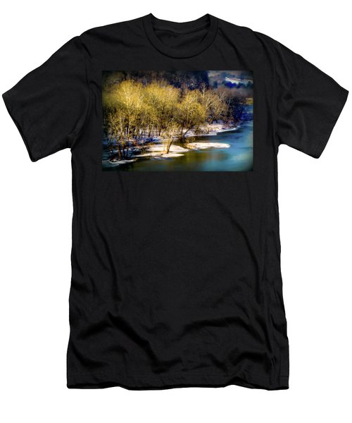 Snowy River Men's T-Shirt (Slim Fit) by Karen Wiles
