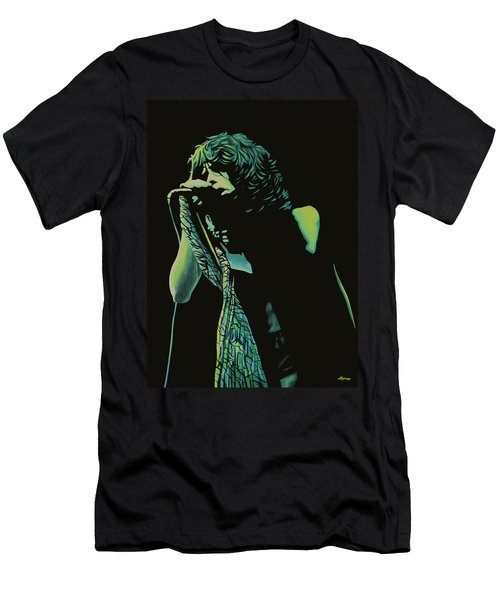 Steven Tyler 2 Men's T-Shirt (Slim Fit) by Paul Meijering