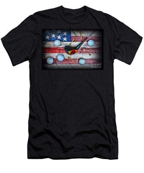 The All American Golfer Men's T-Shirt (Slim Fit) by Paul Ward
