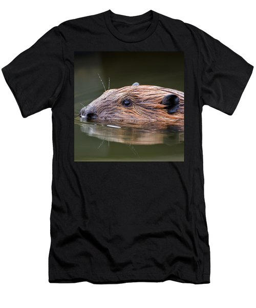 The Beaver Square Men's T-Shirt (Slim Fit) by Bill Wakeley