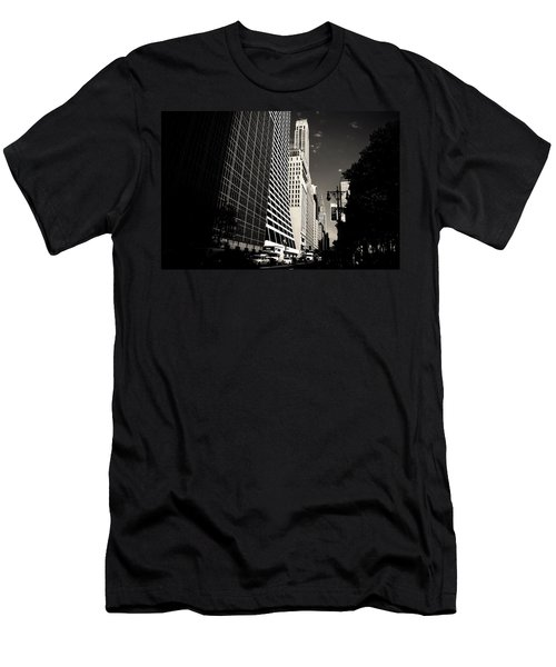 The Grace Building And The Chrysler Building - New York City Men's T-Shirt (Slim Fit) by Vivienne Gucwa