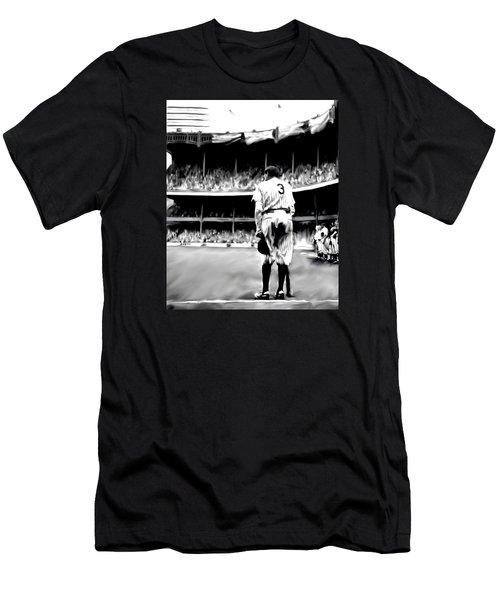 The Greatest Of All  Babe Ruth Men's T-Shirt (Slim Fit) by Iconic Images Art Gallery David Pucciarelli