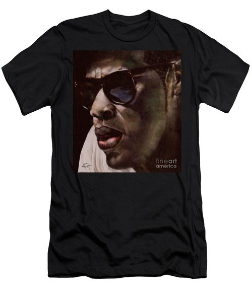 The Pied Piper Of Intrigue - Jay Z Men's T-Shirt (Slim Fit) by Reggie Duffie