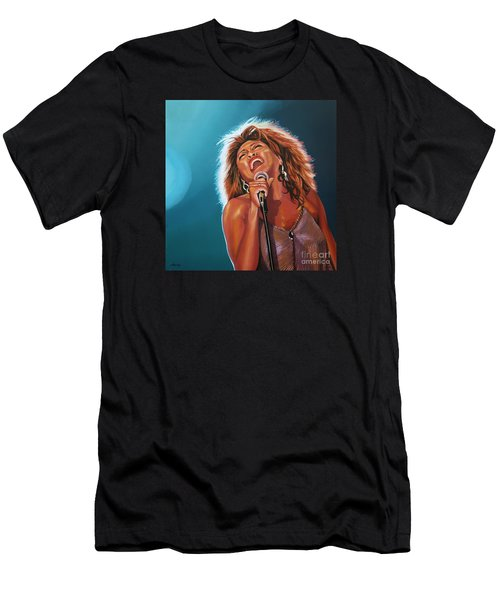 Tina Turner 3 Men's T-Shirt (Slim Fit) by Paul Meijering