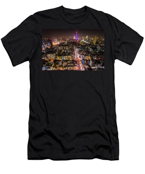 Tokyo Tower - Tokyo - Japan Men's T-Shirt (Slim Fit) by Luciano Mortula