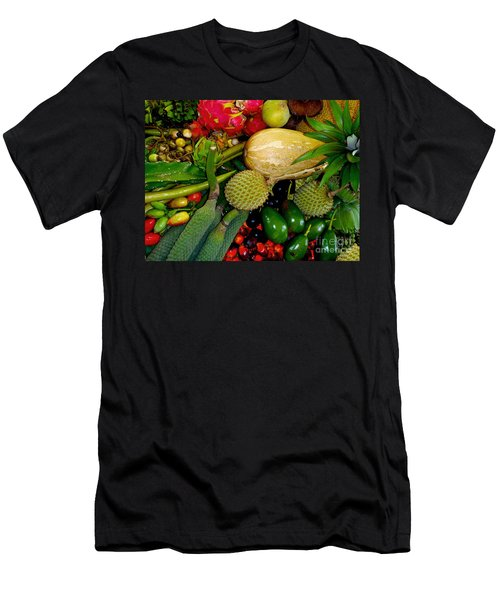 Tropical Fruits Men's T-Shirt (Slim Fit) by Carey Chen