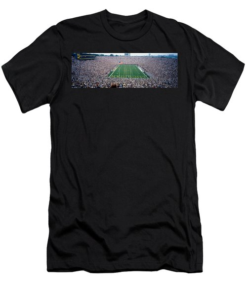University Of Michigan Football Game Men's T-Shirt (Slim Fit) by Panoramic Images