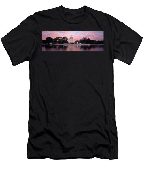 Us Capitol Washington Dc Men's T-Shirt (Slim Fit) by Panoramic Images