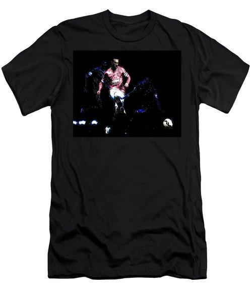 Wayne Rooney Working Magic Men's T-Shirt (Slim Fit) by Brian Reaves