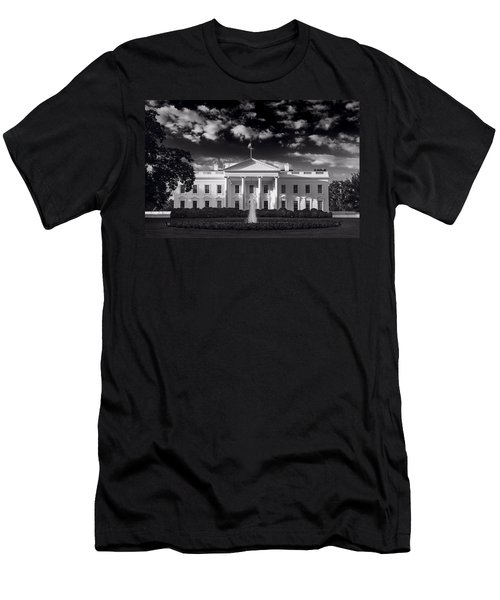 White House Sunrise B W Men's T-Shirt (Slim Fit) by Steve Gadomski