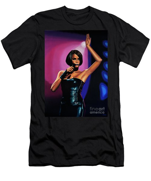 Whitney Houston On Stage Men's T-Shirt (Slim Fit) by Paul Meijering