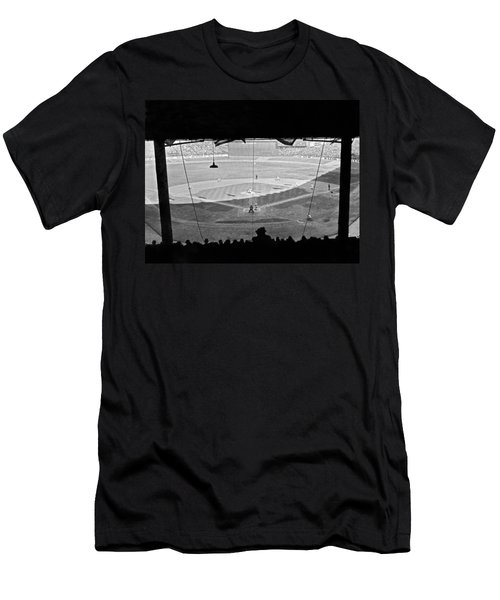 Yankee Stadium Grandstand View Men's T-Shirt (Slim Fit) by Underwood Archives
