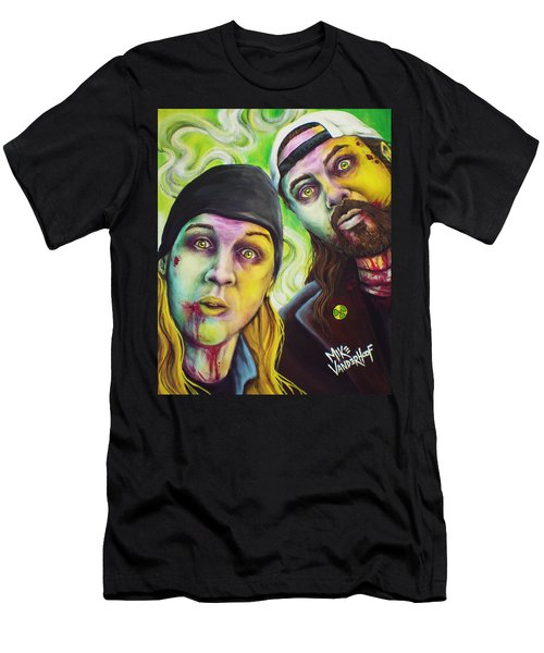 Zombie Jay And Silent Bob Men's T-Shirt (Slim Fit) by Mike Vanderhoof