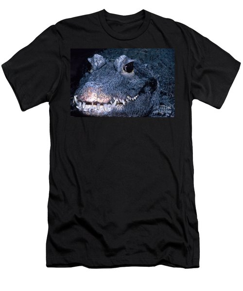 African Dwarf Crocodile Men's T-Shirt (Slim Fit) by Dante Fenolio