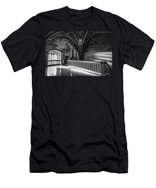 Cold Rock Warm Light Men's T-Shirt (Slim Fit) by CJ Schmit