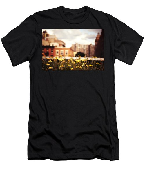 Flowers - High Line Park - New York City Men's T-Shirt (Slim Fit) by Vivienne Gucwa