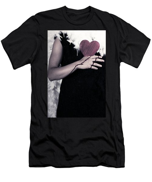 Lady With Blood And Heart Men's T-Shirt (Slim Fit) by Joana Kruse