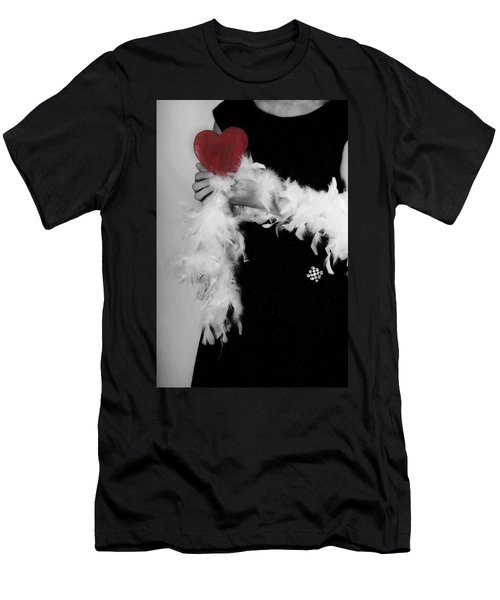 Lady With Heart Men's T-Shirt (Slim Fit) by Joana Kruse