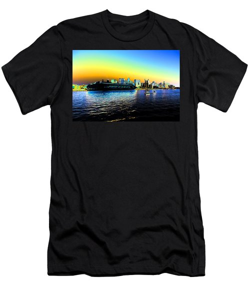 Sydney In Color Men's T-Shirt (Slim Fit) by Douglas Barnard