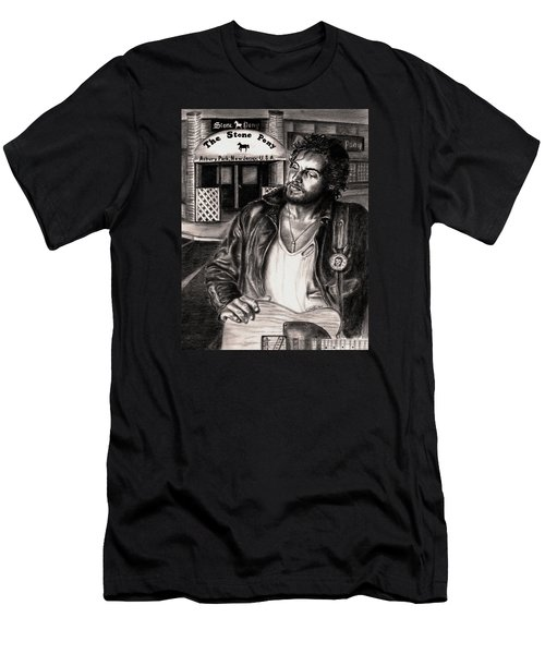 Bruce Springsteen Men's T-Shirt (Slim Fit) by Kathleen Kelly Thompson