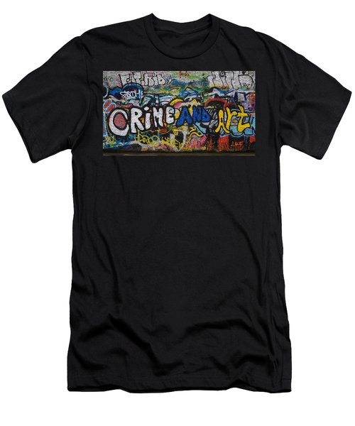Grafitti On The U2 Wall, Windmill Lane Men's T-Shirt (Slim Fit) by Panoramic Images