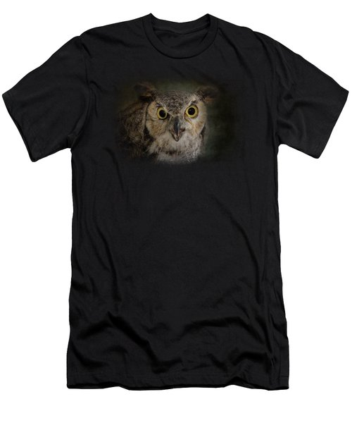 Great Horned Owl Men's T-Shirt (Slim Fit) by Jai Johnson