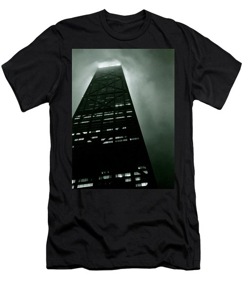 John Hancock Building - Chicago Illinois Men's T-Shirt (Slim Fit) by Michelle Calkins