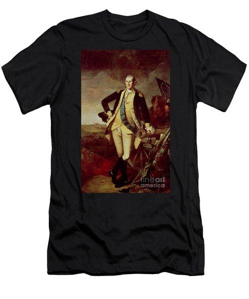 Portrait Of George Washington Men's T-Shirt (Slim Fit) by Charles Willson Peale
